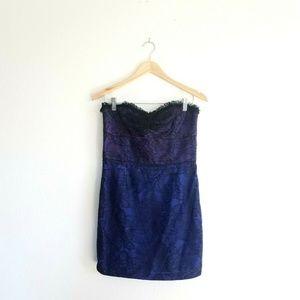 Jill Stuart DRESS Black Lace Party Dress size 8